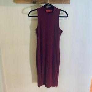Akira Chicago Sleeveless High Neck Stretch Dress